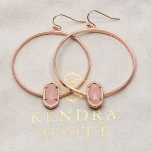 "Kendra Scott ""Elora"" Rose Gold Quartz Earrings"